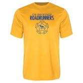 Performance Gold Tee-Roadrunners Soccer Outlines