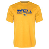 Syntrel Performance Gold Tee-CSU Bakersfield Softball Stencil