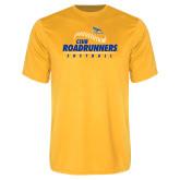 Performance Gold Tee-CSUB Roadrunners Softball Seam