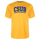 Performance Gold Tee-Arched CSUB Roadrunners