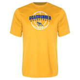 Performance Gold Tee-Roadrunner Basketball Arched w/ Ball