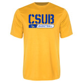 Syntrel Performance Gold Tee-CSUB Basketball Stencil