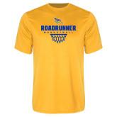 Performance Gold Tee-Roadrunner Basketball Net Icon