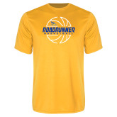 Performance Gold Tee-Roadrunner Basketball Lined Ball