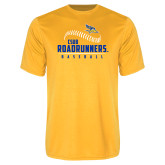 Syntrel Performance Gold Tee-CSUB Roadrunners Baseball Seam