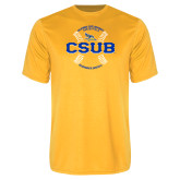 Syntrel Performance Gold Tee-CSUB Baseball Circle Seams