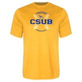 Performance Gold Tee-CSUB Baseball Circle Seams