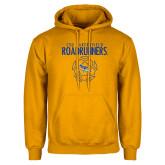 Gold Fleece Hoodie-Roadrunners Soccer Outlines