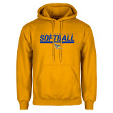 Gold Fleece Hoodie-CSU Bakersfield Softball Stencil