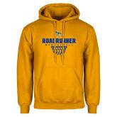 Gold Fleece Hoodie-Roadrunner Basketball Net Icon