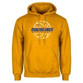 Gold Fleece Hoodie-Roadrunner Basketball Lined Ball