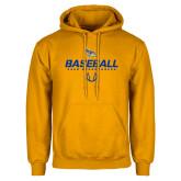 Gold Fleece Hoodie-Baseball Stencil w/ Ball
