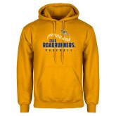 Gold Fleece Hoodie-CSUB Roadrunners Baseball Seam