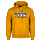 Gold Fleece Hoodie-CSUB Wrestling Stencil