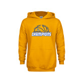 Youth Gold Fleece Hoodie-2017 Western Athletic Conference Champions - Mens Basketball Half Ball
