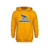 Youth Gold Fleece Hoodie-Roadrunner Head Bakersfield