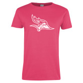 Ladies Fuchsia T Shirt-Primary Logo