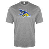 Performance Grey Heather Contender Tee-Primary Logo