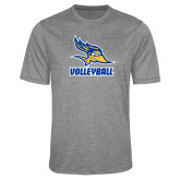 Performance Grey Heather Contender Tee-Volleyball