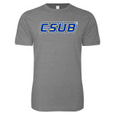 Next Level SoftStyle Heather Grey T Shirt-CSUB