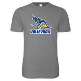 Next Level SoftStyle Heather Grey T Shirt-Volleyball