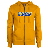 ENZA Ladies Gold Fleece Full Zip Hoodie-CSUB