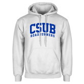 White Fleece Hoodie-Arched CSUB Roadrunners
