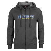 Charcoal Fleece Full Zip Hoodie-CSU Bakersfield Roadrunners