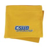 Gold Sweatshirt Blanket-CSUB Roadrunners