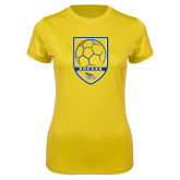 Ladies Syntrel Performance Gold Tee-Soccer Shield