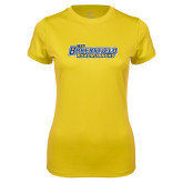 Ladies Syntrel Performance Gold Tee-CSU Bakersfield Roadrunners