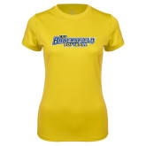 Ladies Syntrel Performance Gold Tee-Softball