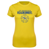 Ladies Syntrel Performance Gold Tee-Roadrunners Soccer Outlines