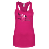 Next Level Ladies Raspberry Ideal Racerback Tank-Primary Logo Foil