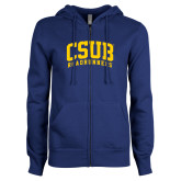 ENZA Ladies Royal Fleece Full Zip Hoodie-Arched CSUB Roadrunners