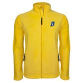Fleece Full Zip Gold Jacket-B Embroidery
