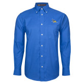 Mens Royal Oxford Long Sleeve Shirt-Primary Logo