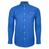 Mens Royal Oxford Long Sleeve Shirt-CSUB