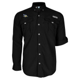 Columbia Bahama II Black Long Sleeve Shirt-Primary Logo