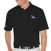 Callaway Opti Dri Black Chev Polo-Primary Logo Embroidery