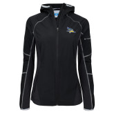 Columbia Ladies Sweet As Softshell Black Jacket-Primary Logo