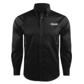 Red House Black Herringbone Non Iron Long Sleeve Shirt-CSU Bakersfield Roadrunners