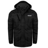 Black Brushstroke Print Insulated Jacket-CSU Bakersfield Roadrunners