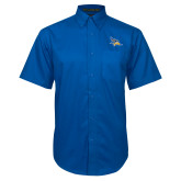 Royal Twill Button Down Short Sleeve-Primary Logo Embroidery