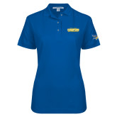 Ladies Easycare Royal Pique Polo-2017 WAC Champions - Mens Basketball Stacked