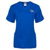 Ladies Royal Two Pocket V Neck Scrub Top-Primary Logo