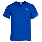 Unisex Royal V Neck Tunic Scrub with Chest Pocket-Primary Logo
