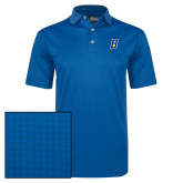 Callaway Magnetic Blue Jacquard Polo-B Embroidery