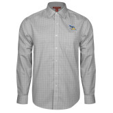 Red House Grey Plaid Long Sleeve Shirt-Primary Logo Embroidery