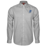 Red House Grey Plaid Long Sleeve Shirt-B Embroidery